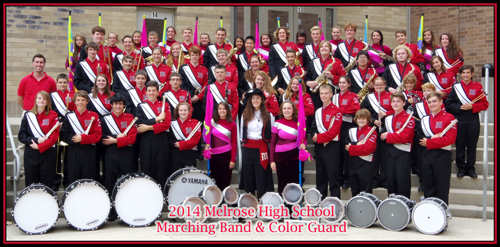 2014 MHS Marching Band and Color Guard-small