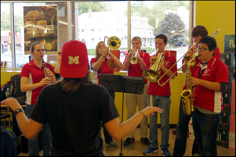 MHS Band fundraising at Whole Foods Melrose, Massachusetts October 2014
